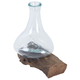 Jetsam Teak Root And Glass Vessel - Tall