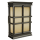 Craftmade Teiber Chimes - Traditional - Hand Carved Window Pane w/ Tea-Stained Glass - Black Semi-Gloss