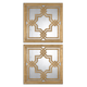 Uttermost Piazzale Gold Square Mirrors S/2