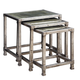 Uttermost Keanna Antiqued Silver Nesting Tables - S/3