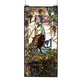 Meyda Tiffany 50562 Tiffany Peacock Wisteria Stained Glass Window in Copperfoil finish