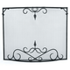 Bostonian Curved Fire Screen With Scroll - 44