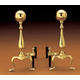 Traditional Ball Andirons