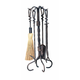 Uniflame F-1695 5 Pc Antique Rust Wrought Iron Toolset