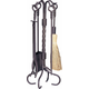 Uniflame F-1643 5 Pc Bronze Fireset With Ring/Swirl Handles