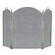 3 Panel Satin Pewter Large Diameter Folding Screen - 52