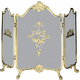 3 Fold Ornate Fully Cast Solid Brass Screen - 41