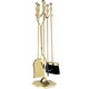 Uniflame T51030PB 5 Pc. Polished Brass Fireset (F-2191)