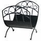 Uniflame W-1035 Black Wrought Iron Log Rack W/ Scrolls