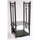Uniflame W-1052 Black Wrought Iron Log Rack With Tools