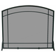 Single Panel Black Wrought Iron Mission Screen - 39