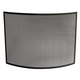 Single Panel Curved Black Wrought Iron Screen - 41