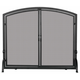 Single Panel Black Wrought Iron Screen With Doors- Large - 44