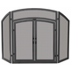 Uniflame S-1178 3 Fold Black Wrought Iron Arch Top W/ Doors