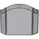 Uniflame S-1638 3 Fold Bronze Wrought Iron Arch Top Screen W/ Scrolls