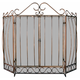 Uniflame S-1659 3 Fold Venetian Bronze Screen With Bowed Bar Scrollwork