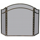 Uniflame S-1692 3 Fold Antique Rust Wrought Iron Arch Top Screen
