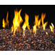 Deep Amber Fireplace Glass Gems - 40lb bucket