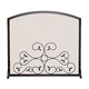 Single Panel Fireplace Screen - 44