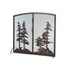 Tall Pines Operable Door Arched Fireplace Screen - 47