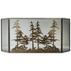 Tall Pines Folding Fireplace Screen - 96