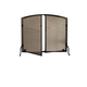Simple Operable Door Arched Fireplace Screen - 40