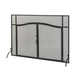 Simple Operable Door Arched Fireplace Screen - 62