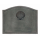 Small Shell Fireback - Cast Iron - Black