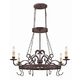 Craftmade Exteriors Brookshire Manor - Burnished Armor 4 Light Pot Rack W/Hooks in Burnished Armor