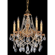 Crystorama 2705-OB-CL-MWP Ornate Cast Brass Chandelier Accented with Hand Cut Crystal