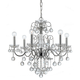 Imperial Collection Chandelier in Polished Chrome w/Hand Polished Crystal and Glass Balls.