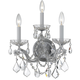 Crystorama 4403-CH-CL-S Maria Theresa Wall Sconce Draped in Swarovski Elements Crystal
