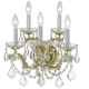 Crystorama 4404-GD-CL-S Maria Theresa Wall Sconce Draped in Swarovski Elements Crystal