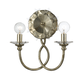 Crystorama 442-SA Antique Silver Wrought Iron Sconce with Star shaped clear crystal accents.