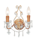Crystorama 4522-CM-CLEAR Paris Flea Market Wall Sconce Adorned with Rose Colored Murano Crystal