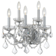 Crystorama 4404-CH-CL-S Maria Theresa Wall Sconce Draped in Swarovski Elements Crystal