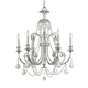 Crystorama 5116-OS-SS-MWP Hand Cut Crystal Wrought Iron Chandelier