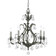 Crystorama 5565-PW-CL-MWP Clear Hand Cut Crystal Chandelier