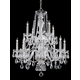 Hot Deal Collection Chandelier in Polished Chrome w/Clear Hand Cut Crystal.