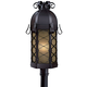 Minka Lavery Lighting 9246-66-PL 1 Light Post Mount in Black finish; ENERGYSTAR Compliant Fixture; Complies with California Title 24