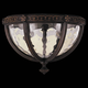 Murray Feiss OL5613WAL Regent Court Outdoor Lantern in Walnut finish with Blown clear water glass shade