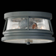 Murray Feiss OL8113STC Chelsea Harbor Ceiling Fixtures in Storm Cloud finish with Clear Seeded Glass