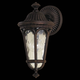 Murray Feiss OL5600WAL Regent Court Outdoor Lantern in Walnut finish with Blown clear water glass shade