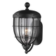 River North 1 Bulb Textured Black Outdoor Lantern