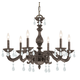 CLOSEOUT SPECIAL - Maria Theresa Collection Wrought Iron Chandelier in Venetian Bronze w/Hand Polished Crystal.