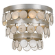 Crystorama Coco 4 Light Antique Silver Ceiling Mount
