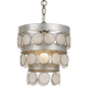 Crystorama Coco 1 Light Antique Silver Mini Chandelier