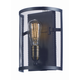 Palladium 1-Light Wall Sconce in Black / Natural Aged Brass