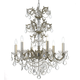 Highland Park Highland Park 6 Light Crystal Olde Silver Chandelier