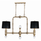 Saloon 2-Light Pendant in Weathered Brass